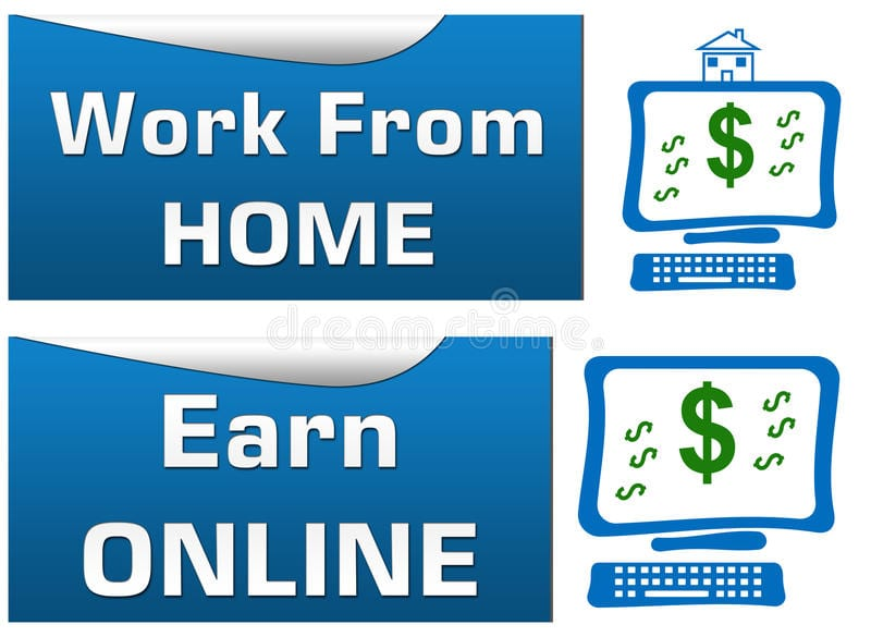 work-home-earn-online-set-banners-44243191